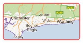 West Sussex map